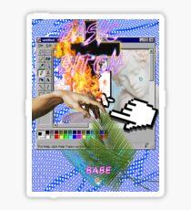 Basic Bitch babe a e s t h e t i c Sticker