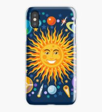 Solar System smiling sun universe iPhone Case