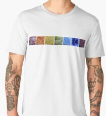 Rainbow - Abstract Salt Paintings Men's Premium T-Shirt