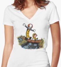 Can I have my boat? Women's Fitted V-Neck T-Shirt