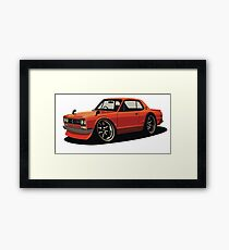 Nissan 2000 GTR Cartoon Framed Print