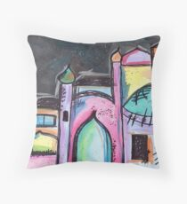 Colourful Mosques Throw Pillow