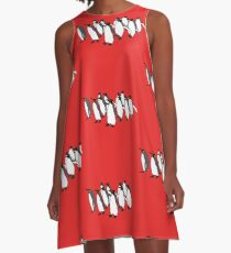 March of Penguins A-Line Dress