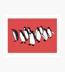 March of Penguins Art Print