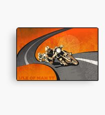 retro motorcycle Isle of Man TT poster Canvas Print