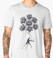 Hand with lotuses on black Men's Premium T-Shirt