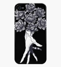 Hand with lotuses on black iPhone 4s/4 Case