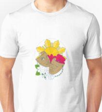 Drama Maske Philippine Sun Hibiskus Sampaguita Blume Mono Line Unisex T-Shirt