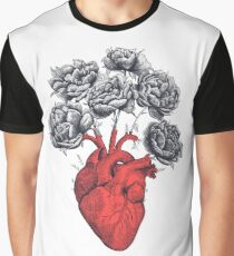 Heart with peonies Graphic T-Shirt