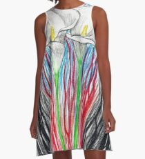 Calla Lily fire A-Line Dress