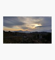 Sunset on  Kerry Way Photographic Print