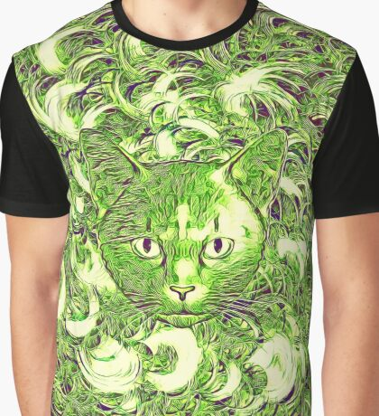 Hiding in fractal feathers Graphic T-Shirt