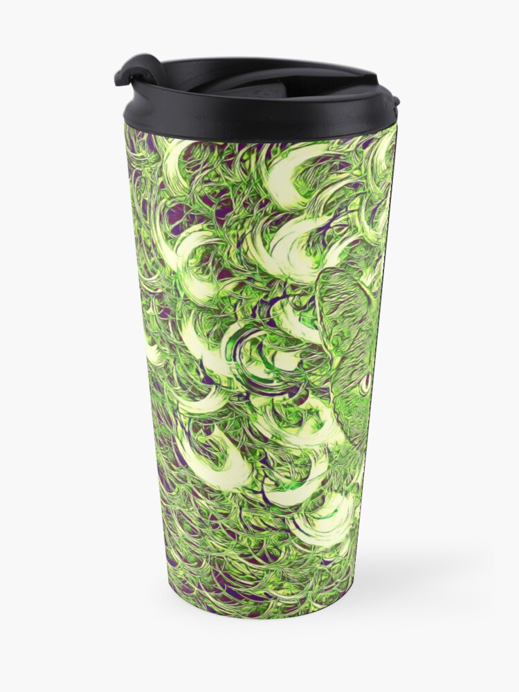 Alternate view of Hiding in fractal feathers Travel Mug