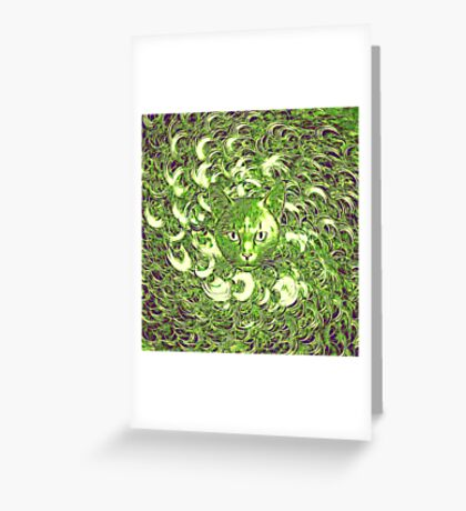 Hiding in fractal feathers Greeting Card