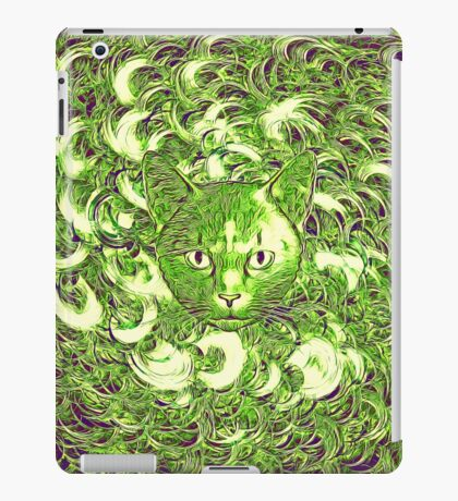 Hiding in fractal feathers iPad Case/Skin
