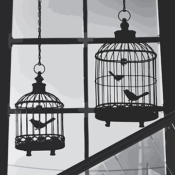 Birds In A Window by Abysma