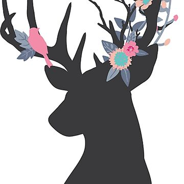 Stag with woodland antlers by NixieNoo