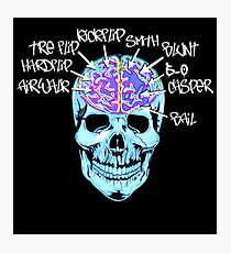 Skate On The Brain ~ Anachrotees Design Photographic Print