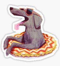 Relaxed Doggo Sticker