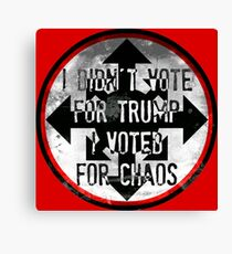 Voting Trump Canvas Print
