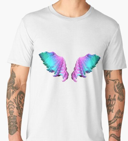 Wings #fractal art Men's Premium T-Shirt