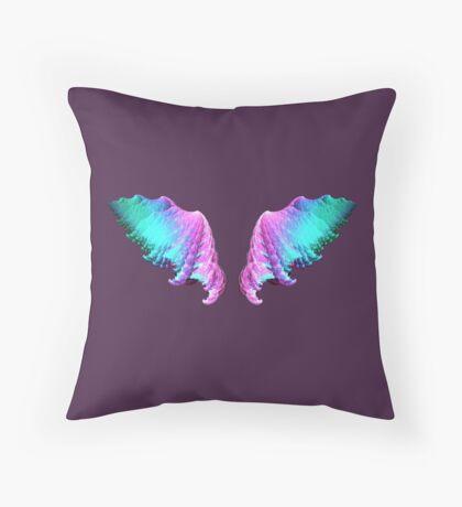 Wings #fractal art Throw Pillow