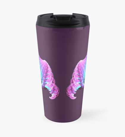 Wings #fractal art Travel Mug