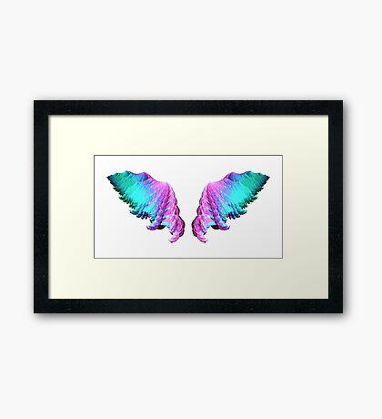 Wings #fractal art Framed Print