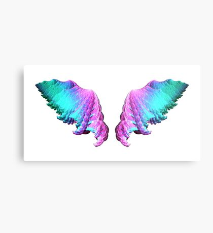 Wings #fractal art Metal Print