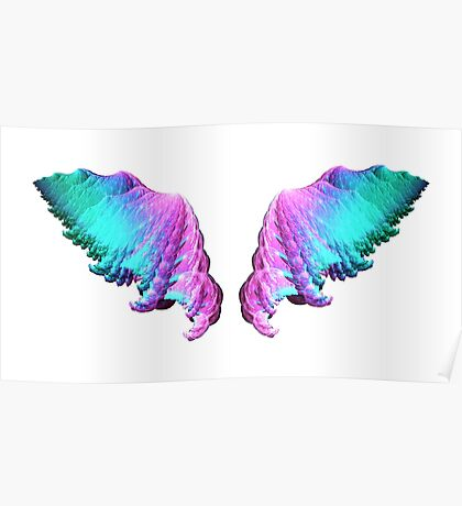 Wings #fractal art Poster