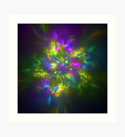 Five stars #fractals Art Print