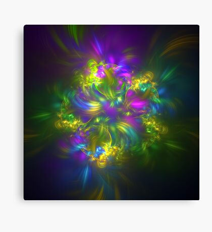 Five stars #fractals Canvas Print