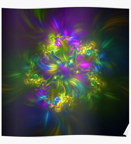 Five stars #fractals Poster