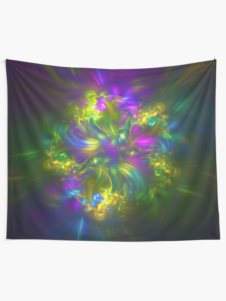 Alternate view of Five stars #fractals Tapestry