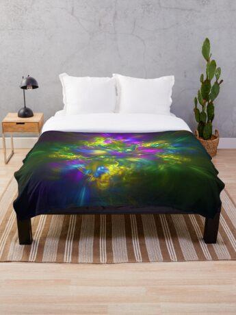 Five stars #fractals Throw Blanket