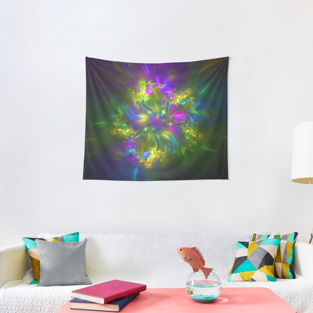 Five stars #fractals Tapestry