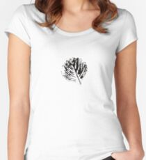 black foliage Women's Fitted Scoop T-Shirt