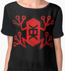Memetic Warfare KEK Frog -red weathered- Chiffon Top