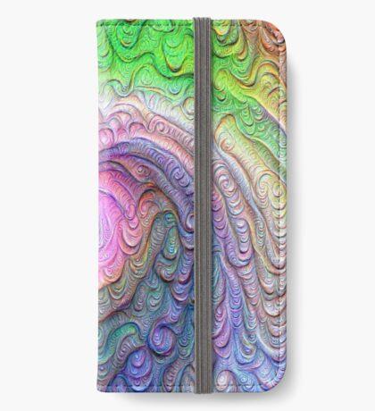 Frozen color Wave #DeepDream #Art iPhone Wallet