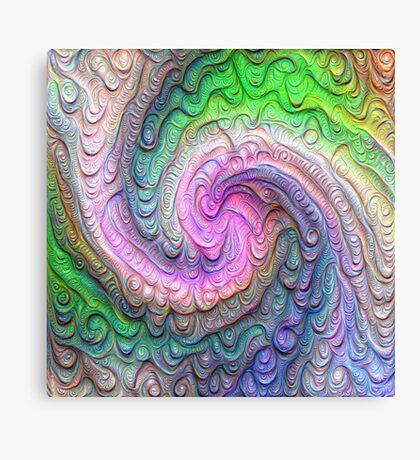 Frozen color Wave #DeepDream #Art Canvas Print