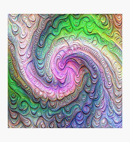 Frozen color Wave #DeepDream #Art Photographic Print