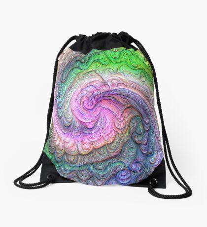 Frozen color Wave #DeepDream #Art Drawstring Bag