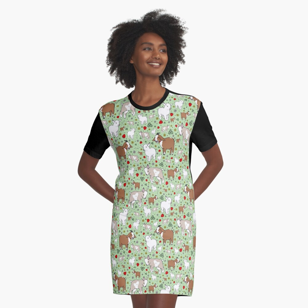 Goats Graphic T-Shirt Dress