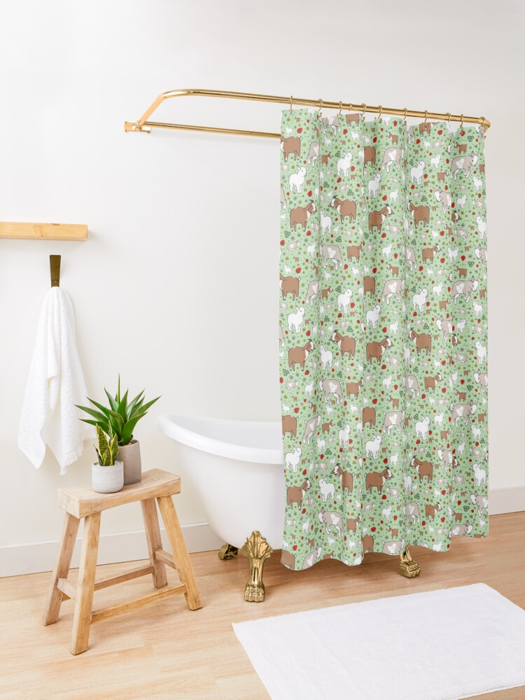 Alternate view of Goats Shower Curtain