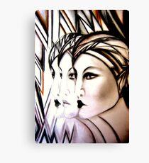 ART DECO FLAPPER TRIO Jacqueline Mcculloch Canvas Print