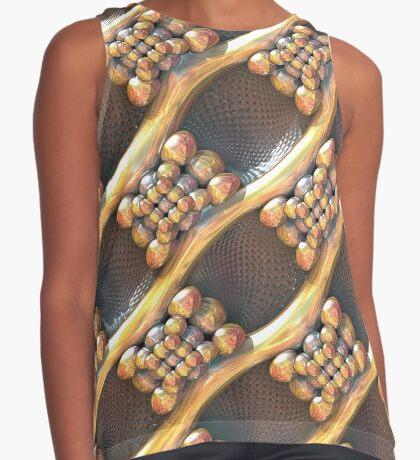 Golden #Fractal Sleeveless Top