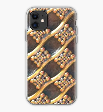 Golden #Fractal iPhone Case