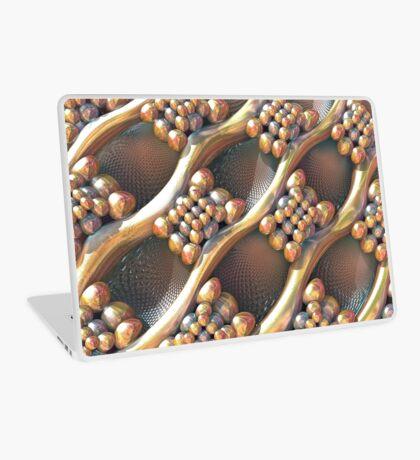 Golden #Fractal Laptop Skin
