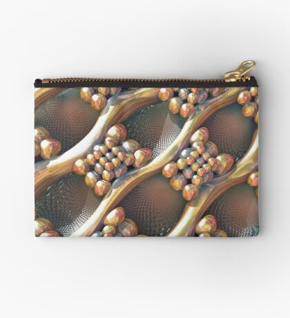 Golden #Fractal Zipper Pouch