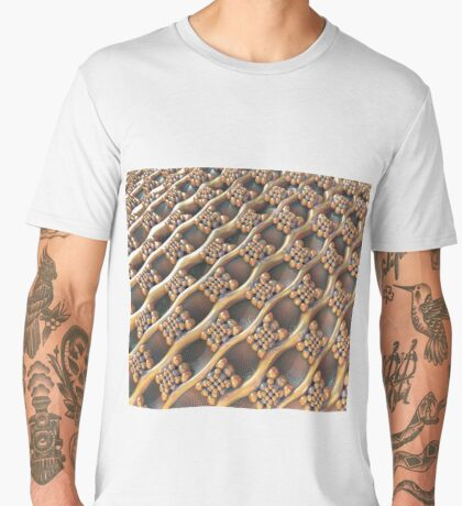 Golden #Fractal Men's Premium T-Shirt